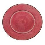 """Le Cadeaux Antiqua Red Platter 16"""""""