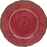 Le Cadeaux Antiqua Red Salad Plate