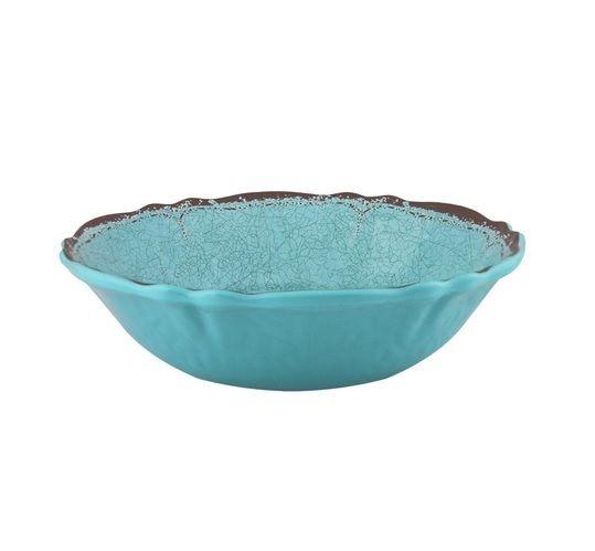 Le Cadeaux Antiqua Turquoise Cereal Bowl