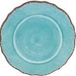 Le Cadeaux Antiqua Turquoise Salad Plate
