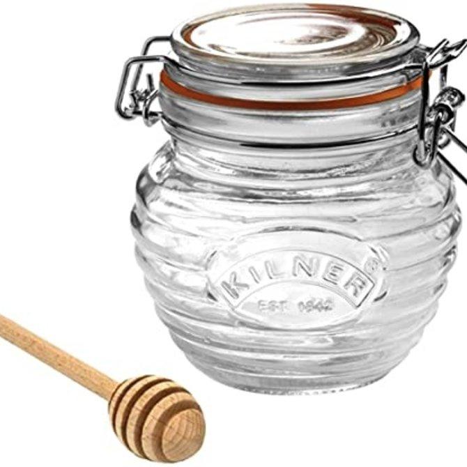 Kilner Clip Top Honey Pot & Dipper 13.5 fl oz