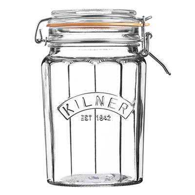 Kilner Facetted Clip Top Jar 33.4 fl oz