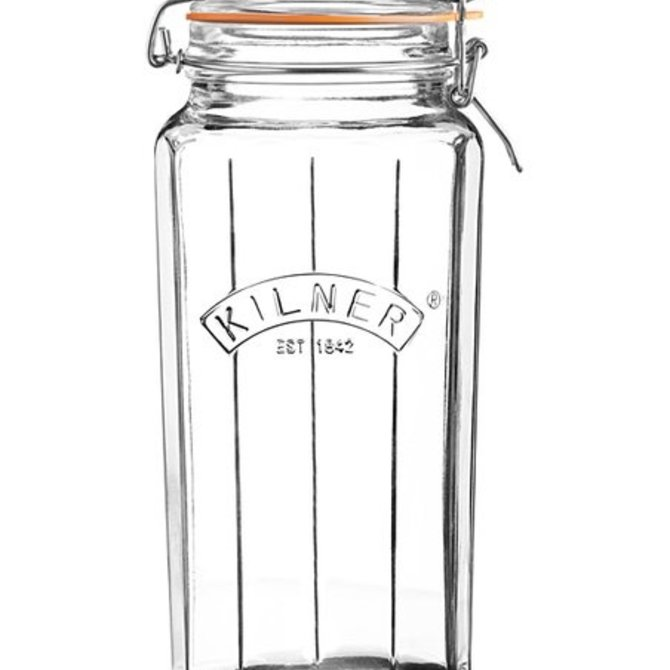 Kilner Facetted Clip Top Jar 63.4 fl oz