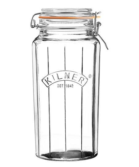 Kilner Facetted Clip Top Jar 63.4 fl oz
