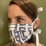 Lindsay Cowles anti-viral masks blue