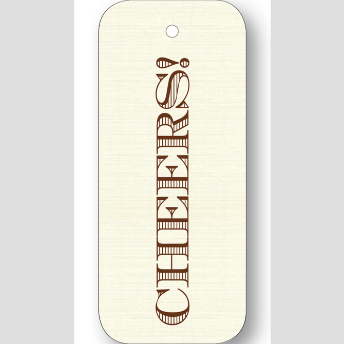 Maison de Papier Cheers Chocolate Gift tags