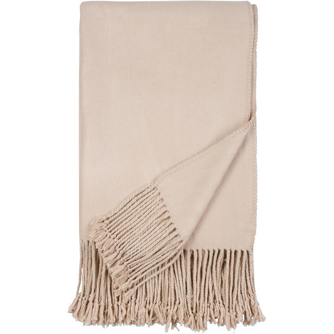 Malibu Luxxe Luxxe fringe throw - nude