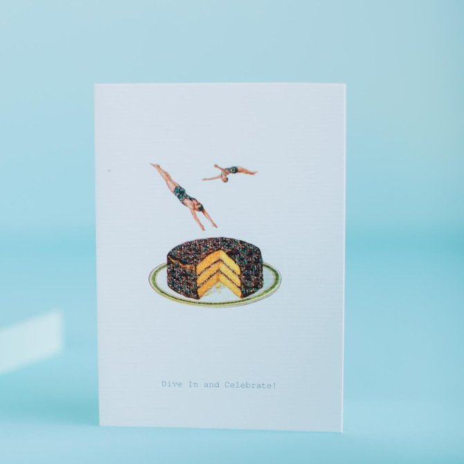 Margot Elena Dive in and Celebrate Greeting Card