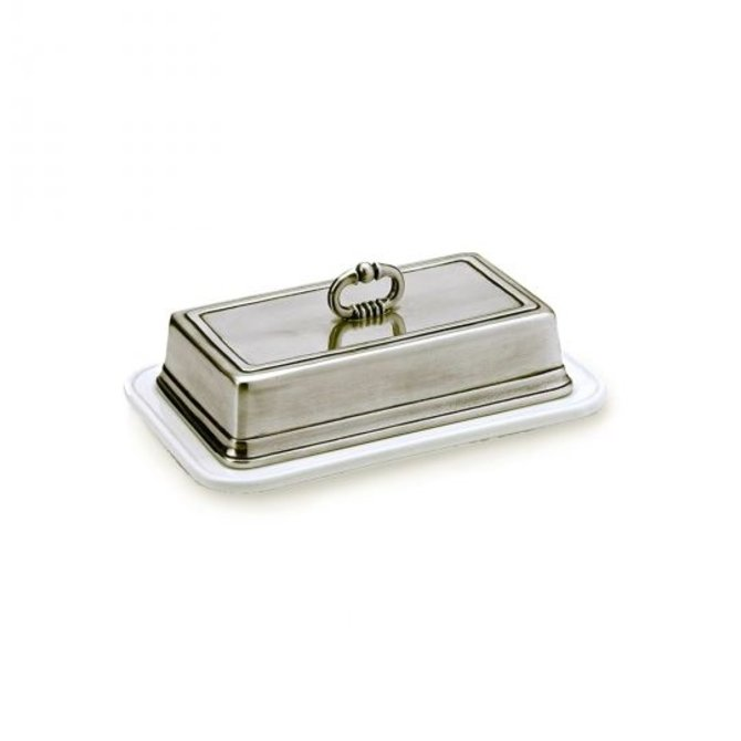 Match 1553.0 Convivio Butter Dish with Cover, White
