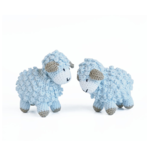 "Melange Little crochet sheep 4""x3.5"" - blue"