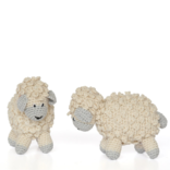 "Melange Little crochet sheep 4""x3.5"" - ecru with grey"