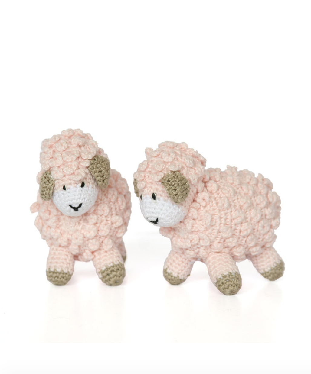 """Melange Little crochet sheep 4""""x3.5"""" - pink"""