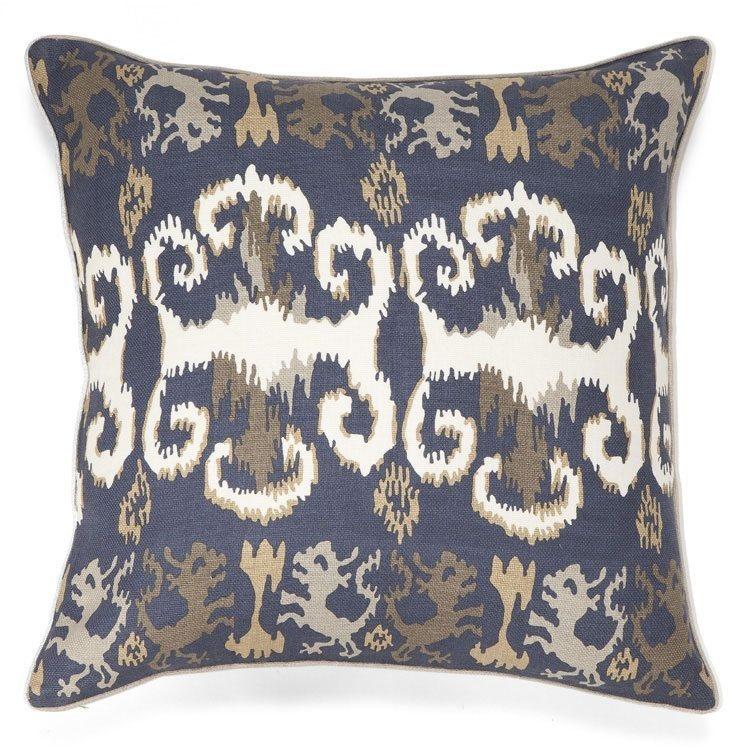 New Moon LW63, Indigo Linen Pillow 22x22