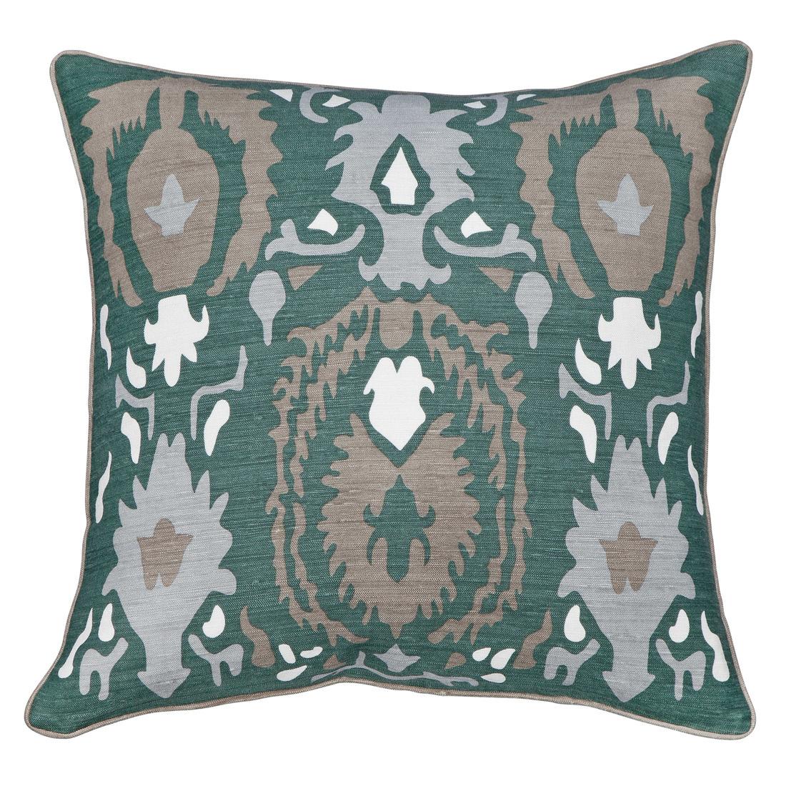 New Moon Regal, Blue Green Bamboo Silk Pillow 22x22