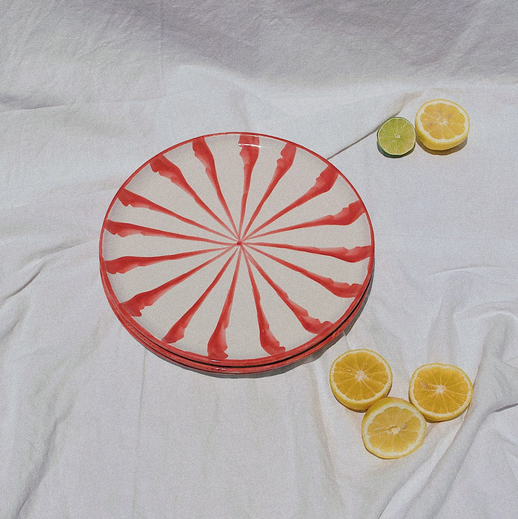 Pomelo Coral Dinner Plate