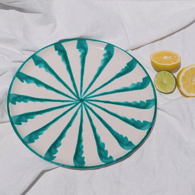 Pomelo Green Dinner Plate