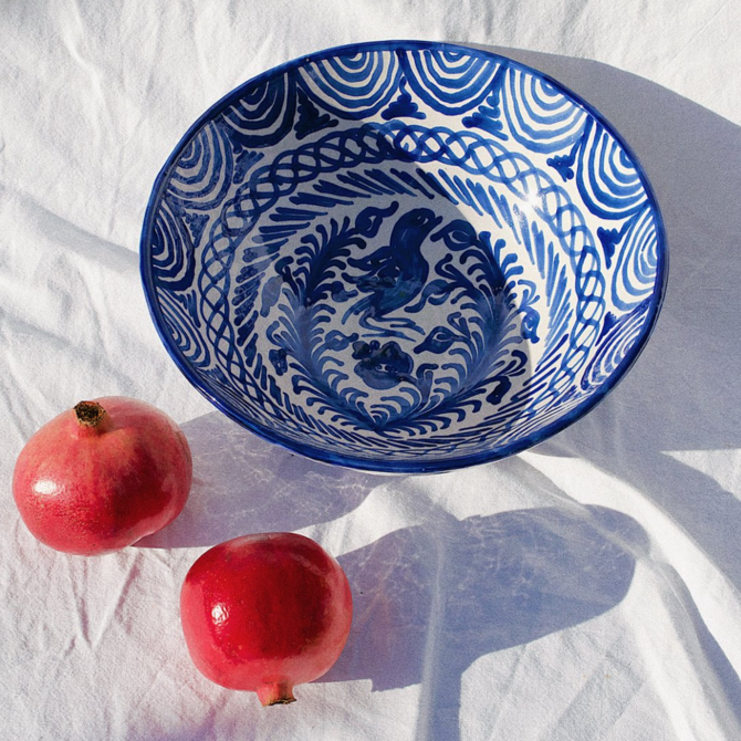 Pomelo Bowl Blue Large
