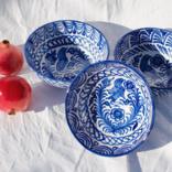 Pomelo Bowl Blue Hand Painted Medium