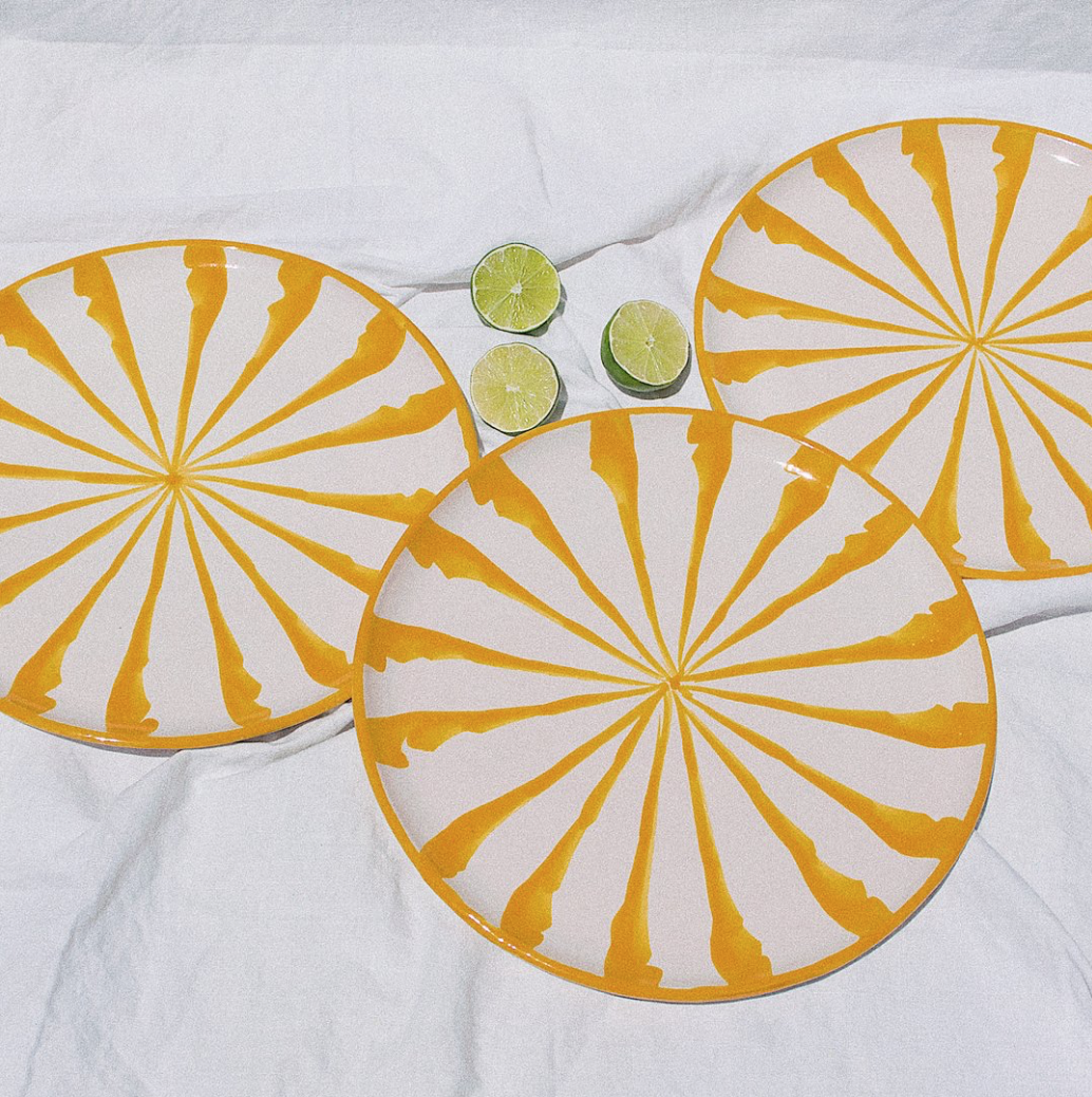 Pomelo Yellow Dinner Plate