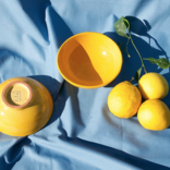 Pomelo Bowl Yellow Hand Painted Small