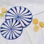 Pomelo Salad Plate Blue