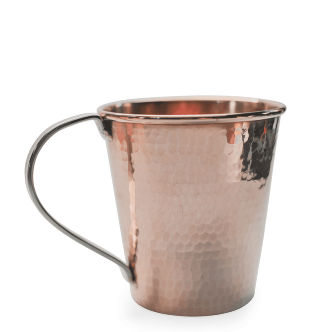 Sertodo Copper Moscow Mule Mug, 18oz. stainless handle