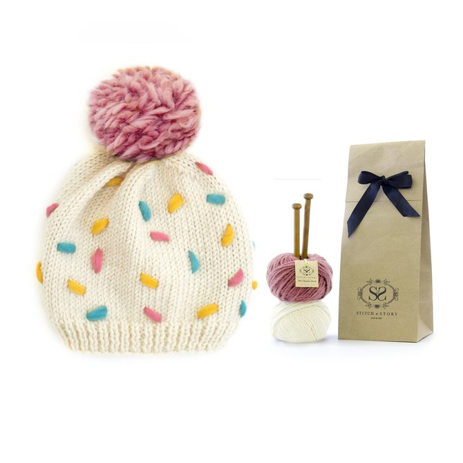 Stitch & Story Sprinkles Knitted Hat - Baby