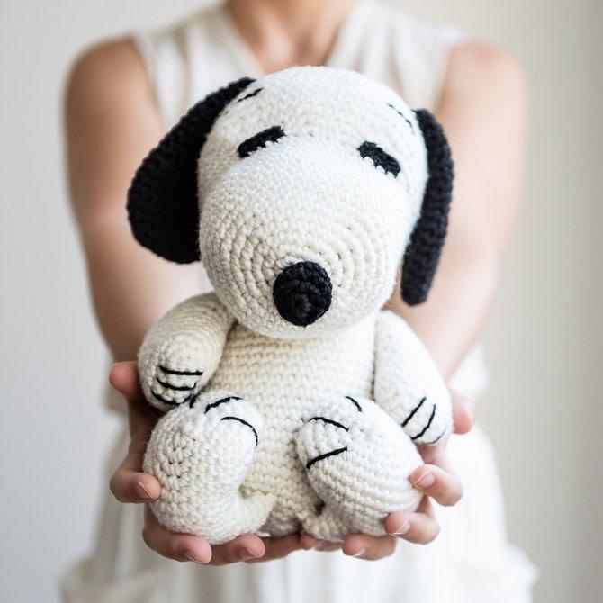 Stitch & Story Peanuts Snoopy Amigurumi White/Black