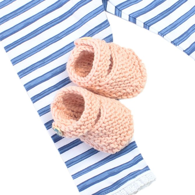 Stitch & Story Bonny Booties Knitt Baby - Pink