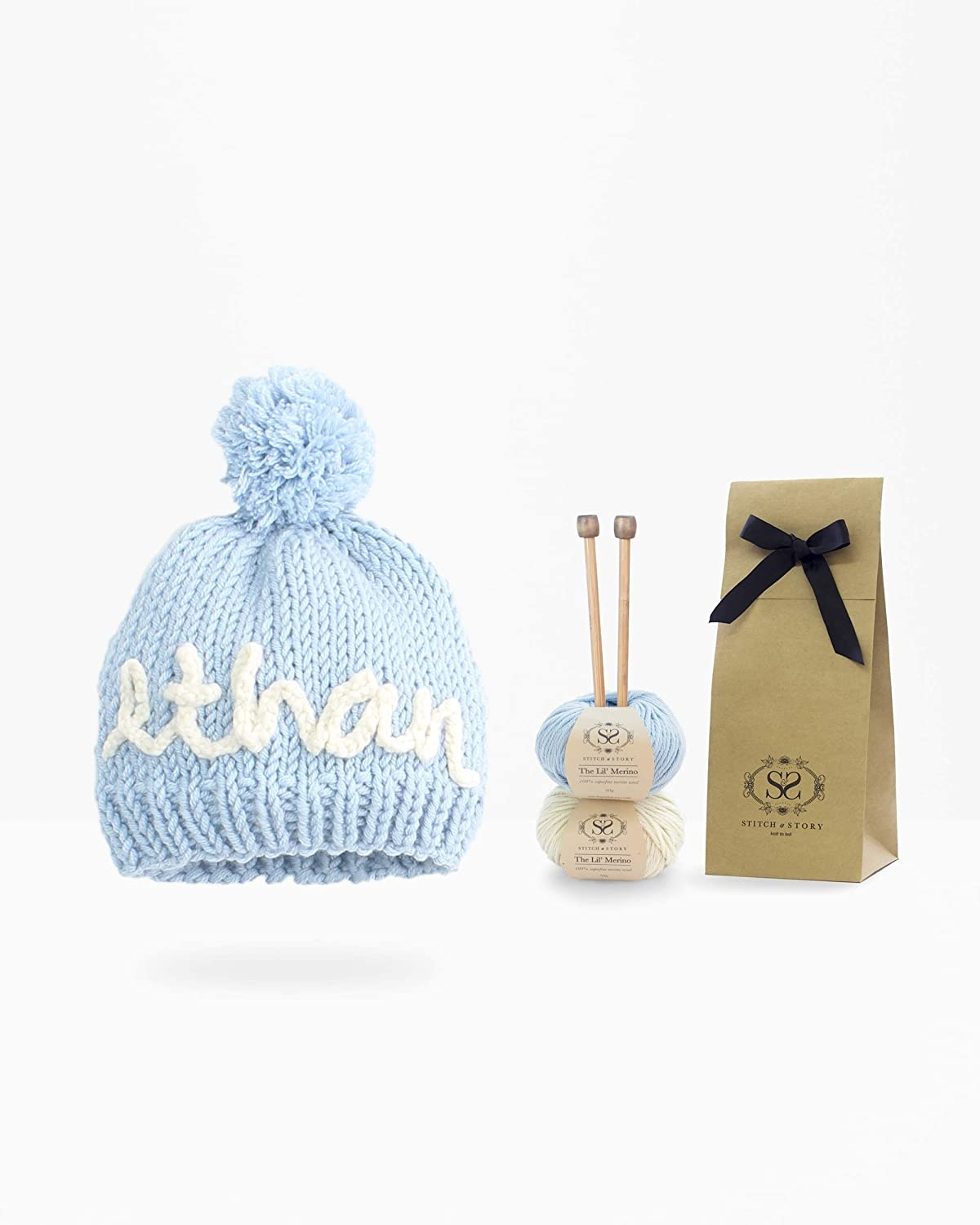Stitch & Story Personalized Mini Hat Knitt - Blue