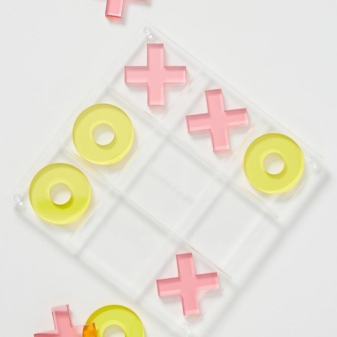 Sunny Life Lucite Tic Tac Toe Super Fly