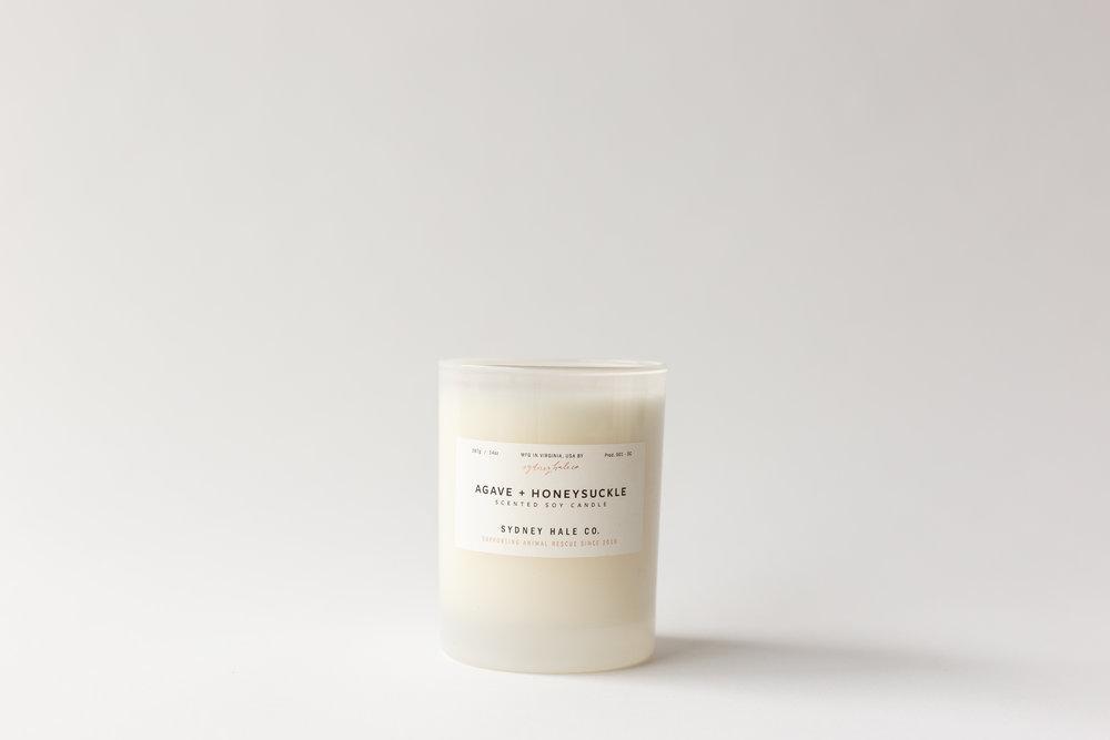 Sydney Hale Co Agave + Honeysuckle Candle