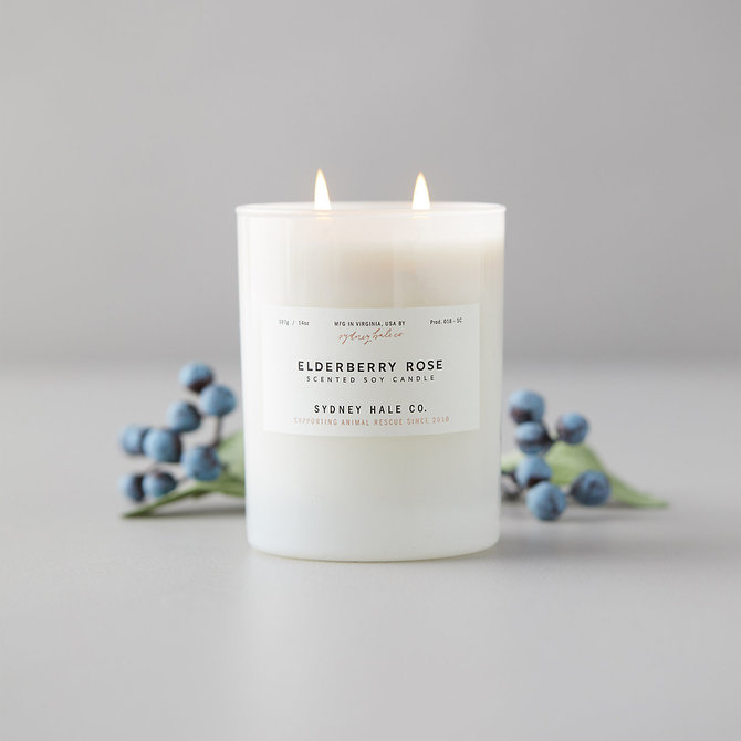 Sydney Hale Co Elderberry Rose Candle