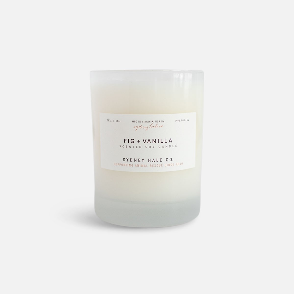 Sydney Hale Co Fig & Vanilla Candle