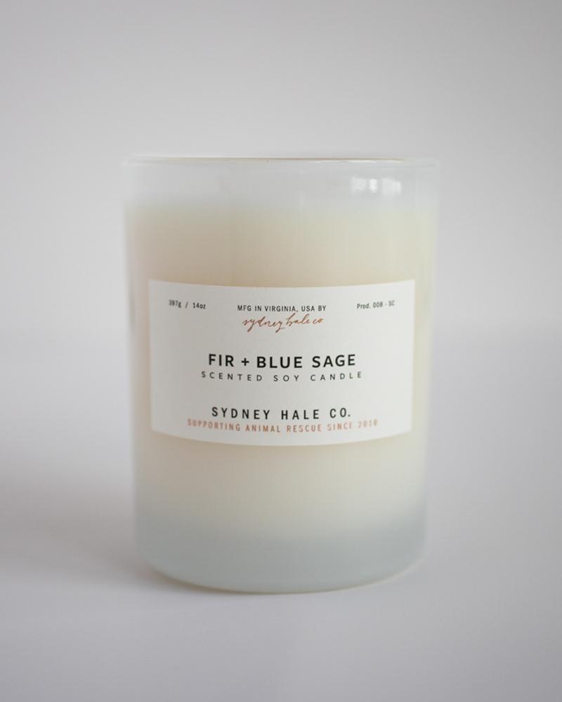 Sydney Hale Co Fir & Blue Sage Candle