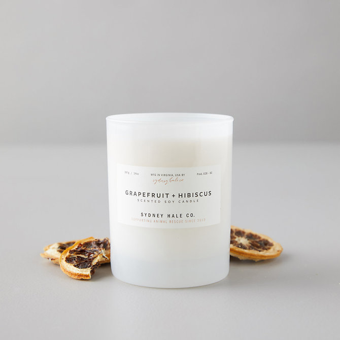 Sydney Hale Co Grapefruit and Hibiscus Candle