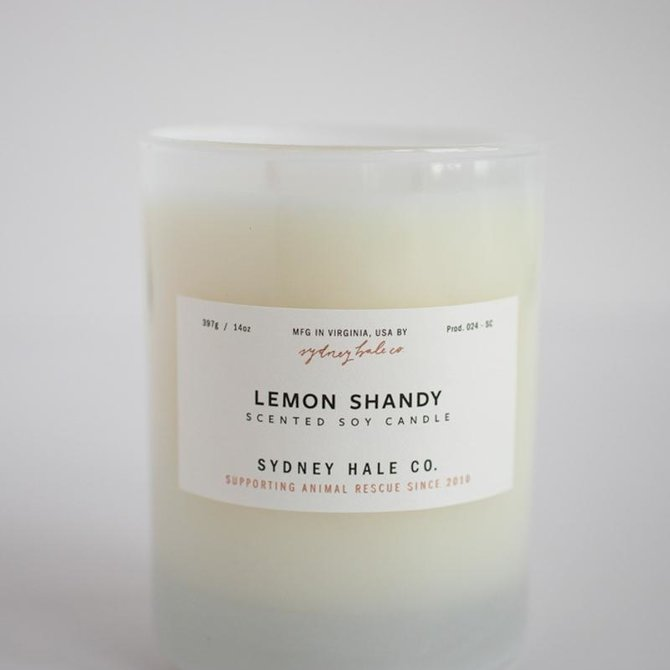 Sydney Hale Co Lemon Shandy Candle