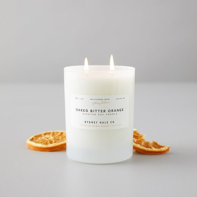 Sydney Hale Co Oaked Bitter Orange Tumbler Candle