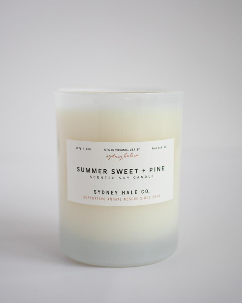 Sydney Hale Co Summer Sweet + Pine Candle