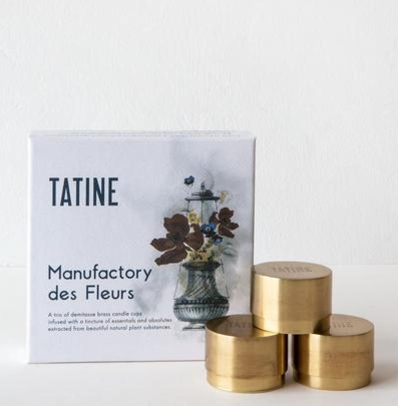 Tatine Orange Flower Manufactory des Fleurs Votive Trio