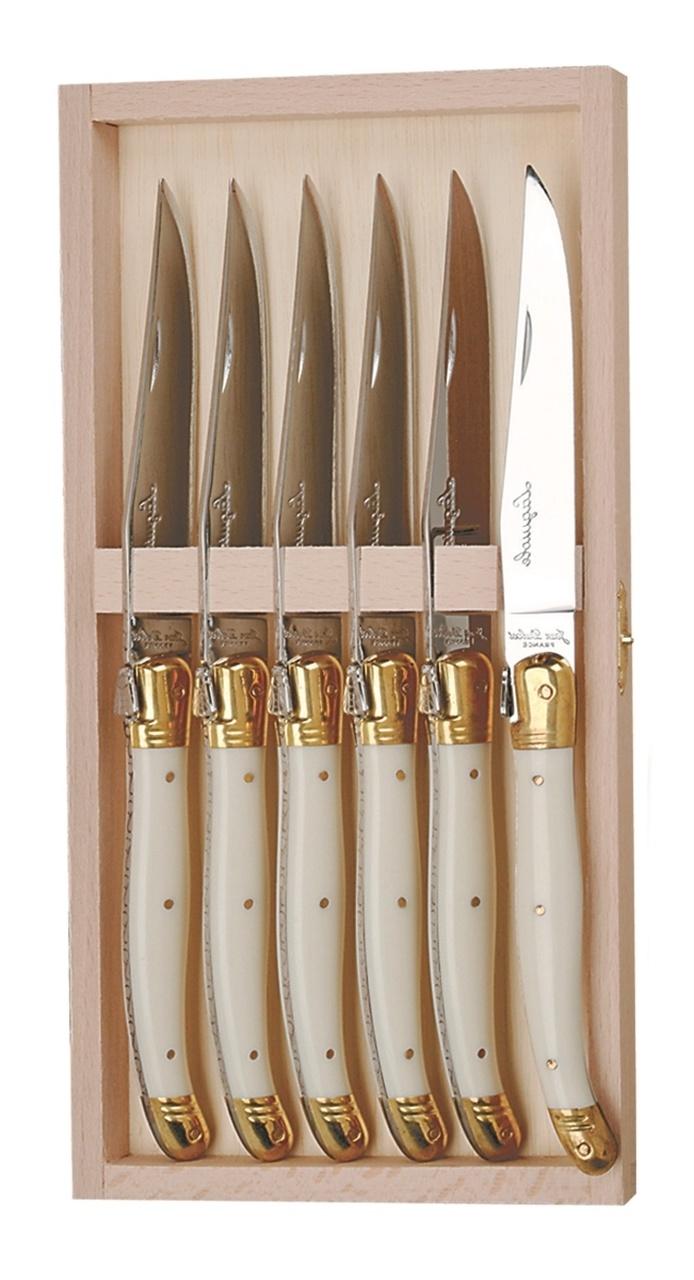 The French Farm 6 Knives- Ivory Acrylic