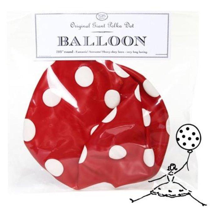 "Tops Malibu 36"" Original Poka Dot Balloon"