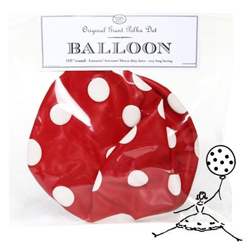 "Tops Malibu 36"" Original Poka Dot Balloon"