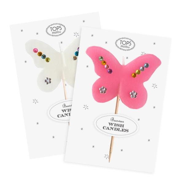 Tops Malibu Butterfly Beeswax Candle