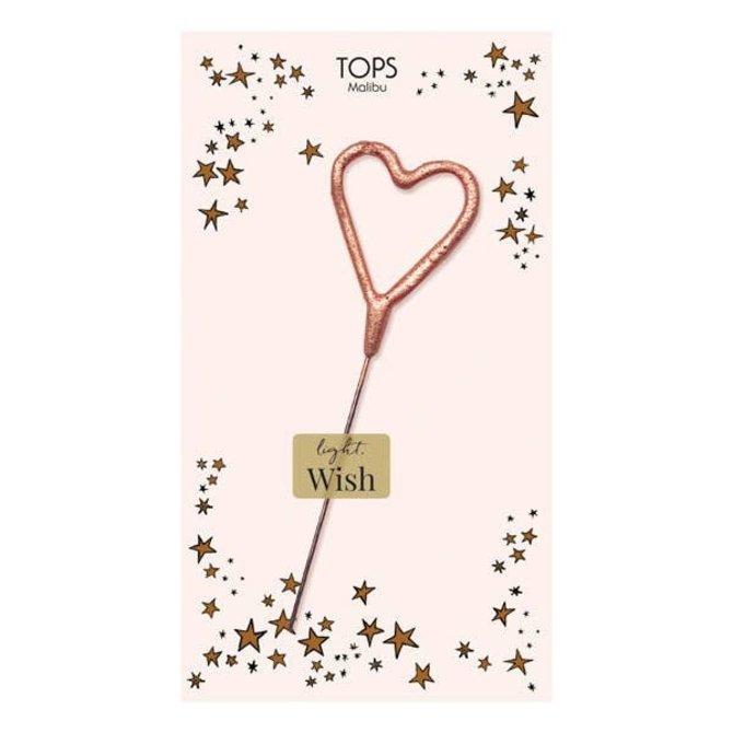 Tops Malibu Sparkler Card Blush Mini Rose Gold Heart