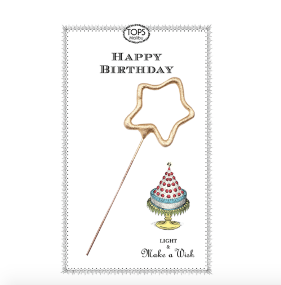 Tops Malibu Sparkler Card Happy Birthday