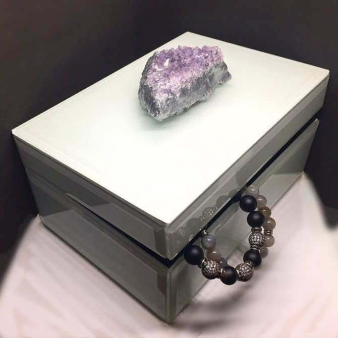 Two's Company Amethyst Geode Hinged box Rectangle - HTA102A-S2
