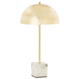 Two's Company Brass Accent Lamp Marble Base