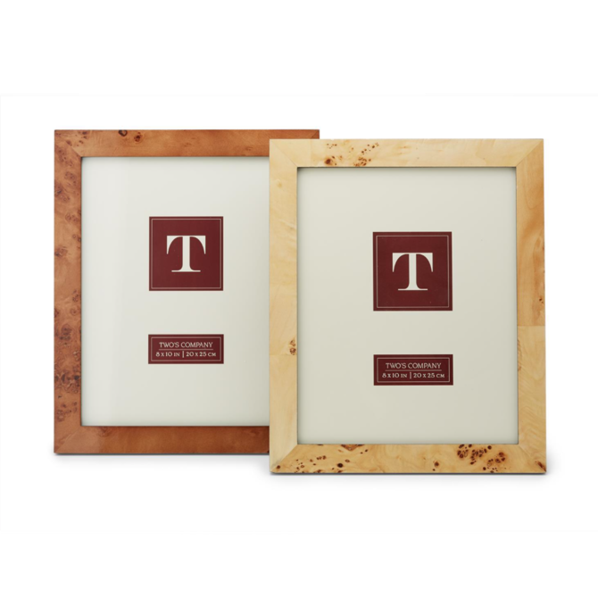 Two's Company Burled Wood Frame