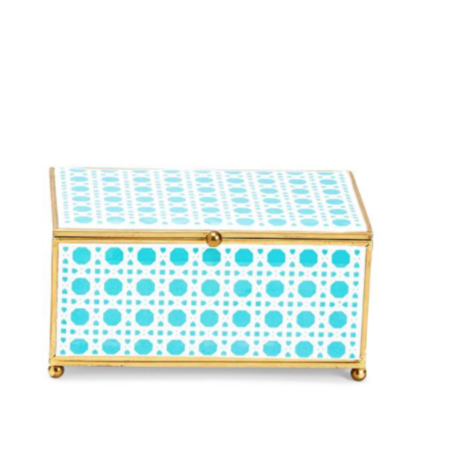 Two's Company CHINOISERIE GLASS BOX - SMALL